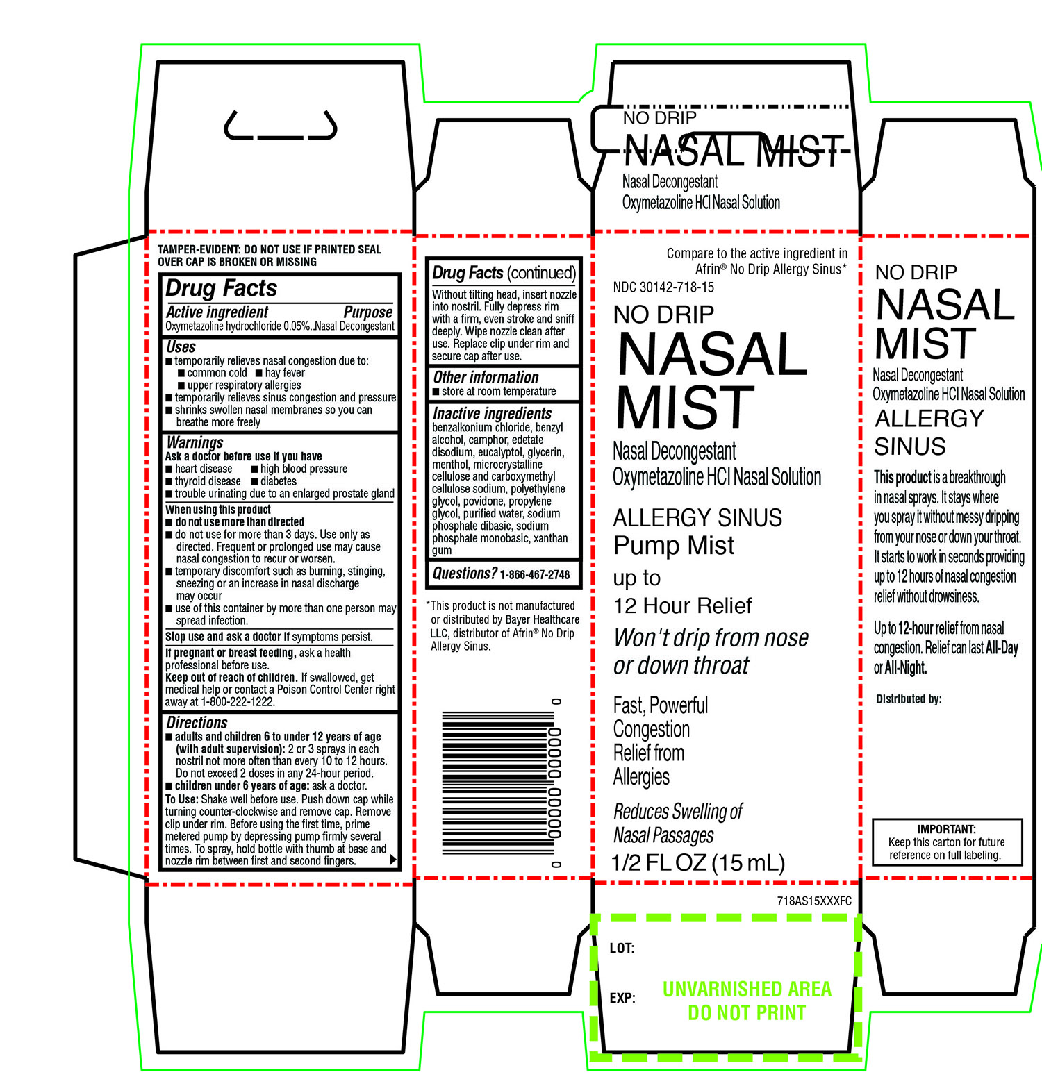 Kroger Health No Drip Allergy Nasal Mist