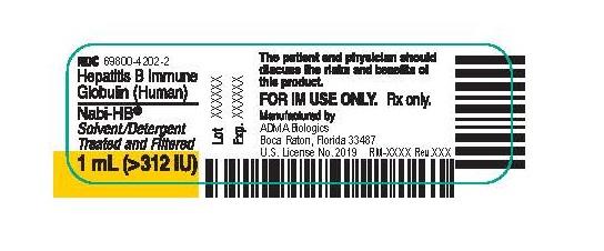 Nabi-HB Vial Label (1 mL)