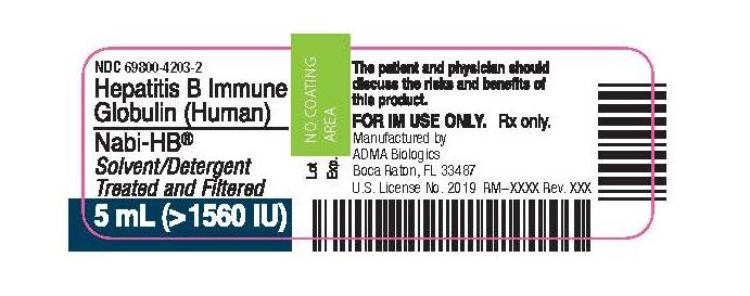 Nabi-HB Vial Label (5 mL)