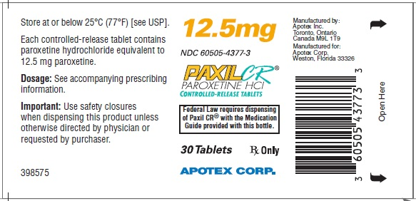 PaxilCR12.5mg30counttabletlabel