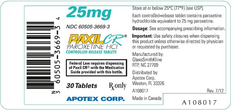 PaxilCR25mg30counttabletlabel-GSK