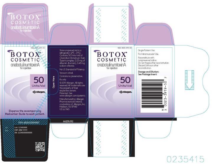 PRINCIPAL DISPLAY PANEL Botox Cosmetic onabotulinumtoxinA for Injection 50 Units/Vial