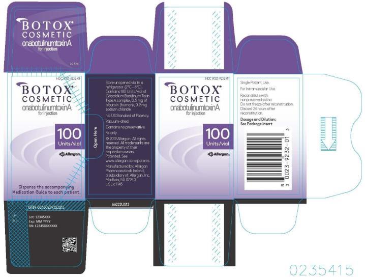 PRINCIPAL DISPLAY PANEL Botox Cosmetic onabotulinumtoxinA for Injection 100 Units/Vial