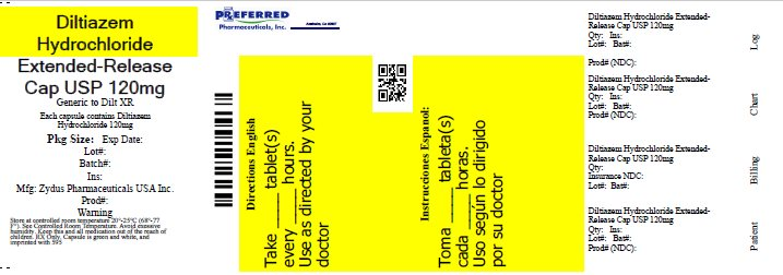 Diltiazem Hydrochloride Estended Release Cap USP 120mg