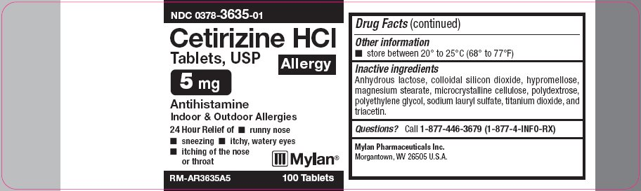 Cetirizine HCl Tablets, USP 5 mg Carton Label - Base Layer
