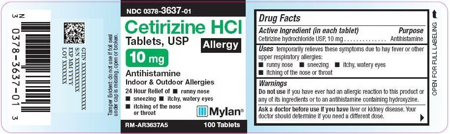 Cetirizine HCl Tablets, USP 10 mg Carton Label