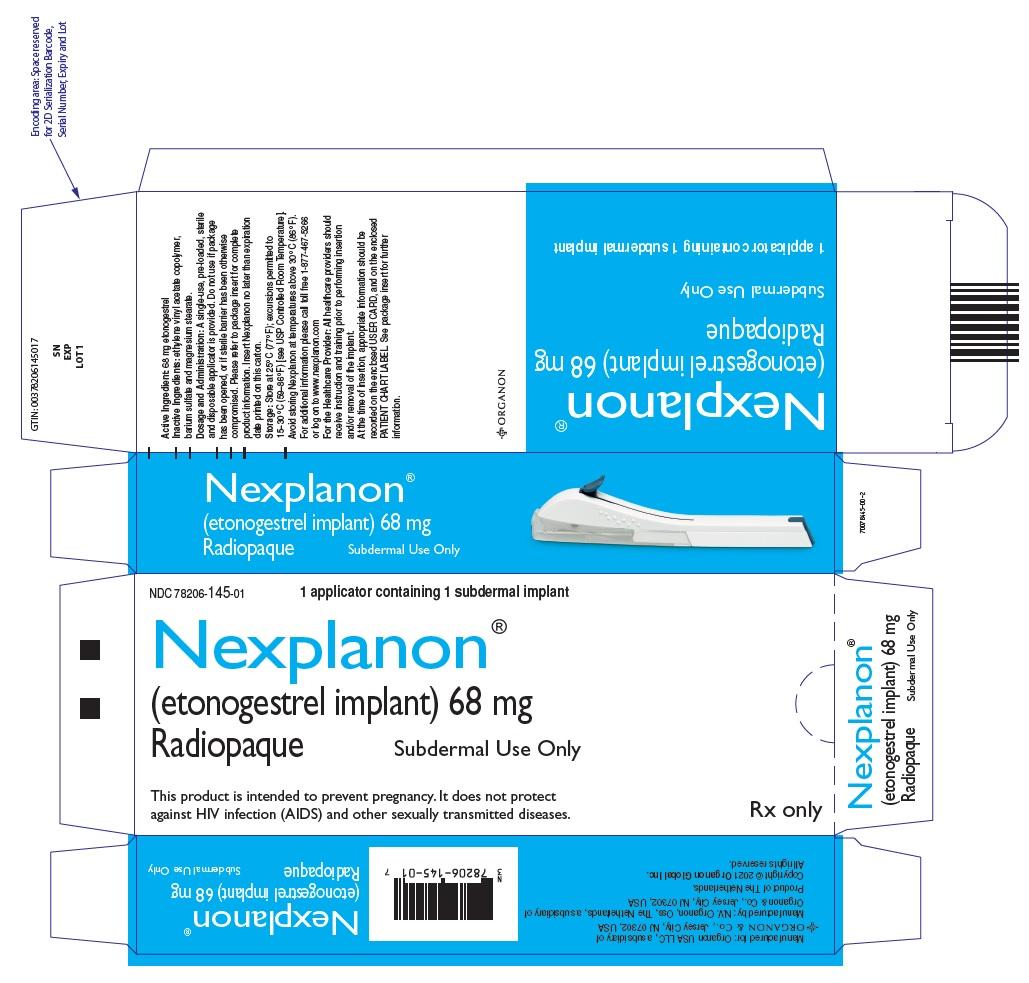 PRINCIPAL DISPLAY PANEL - 68 mg Implant Blister Pack Carton