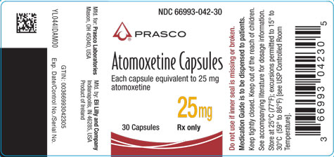 PACKAGE LABEL - Atomoxetine  25 mg bottle of 30
