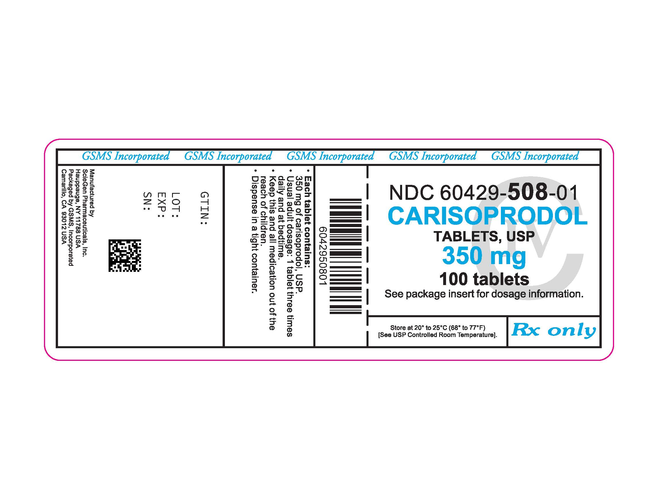 60429-508-01LB - CARISOPRODOL 350 MG TABS - CIV - REV APR 2014.jpg