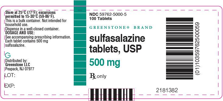 PRINCIPAL DISPLAY PANEL - 500 mg Tablet Bottle Label - 59762-5000-5