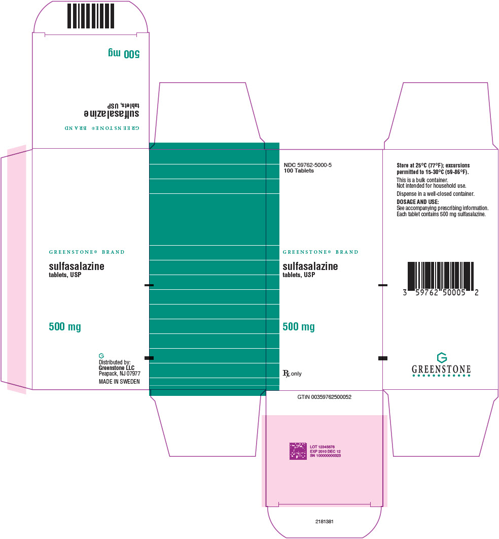 PRINCIPAL DISPLAY PANEL - 500 mg Tablet Bottle Carton - 59762-5000-5