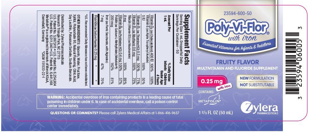 Poly-Vi-Flor with Iron and 0.25 mg of Fluoride