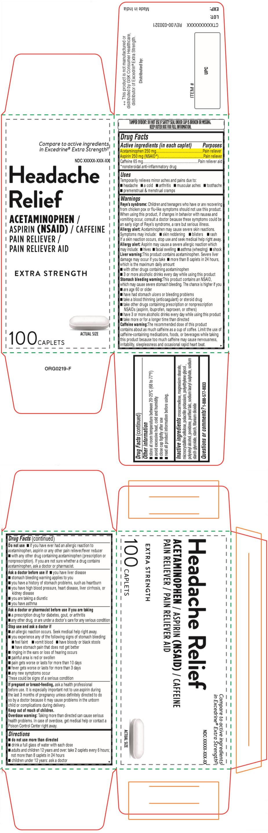PRINCIPAL DISPLAY PANEL - 100 Caplet Bottle Carton