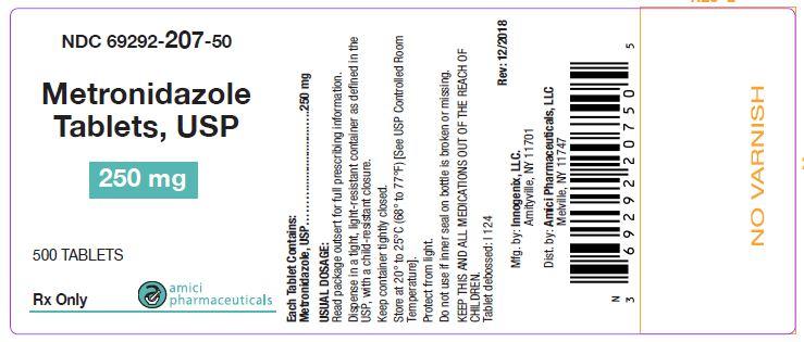 metronidazole label 250 mg