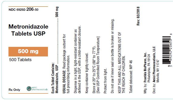 metronidazole label 500mg