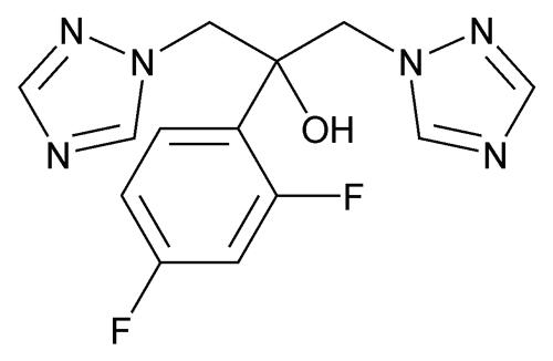 structural formula - fluconazole, USP