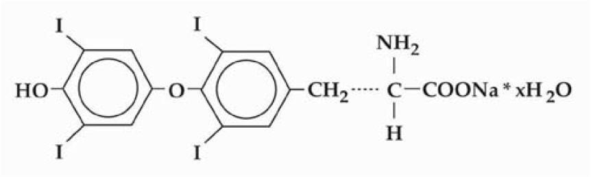 levothyroxine-structure