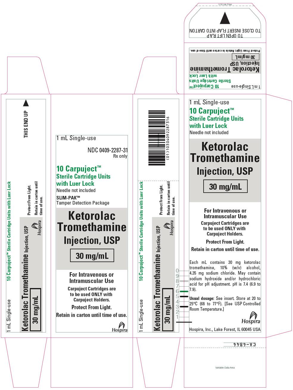 PRINCIPAL DISPLAY PANEL - 30 mg/mL Cartridge Carton