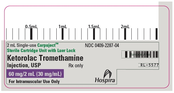 PRINCIPAL DISPLAY PANEL - 60 mg/2 mL Cartridge Label