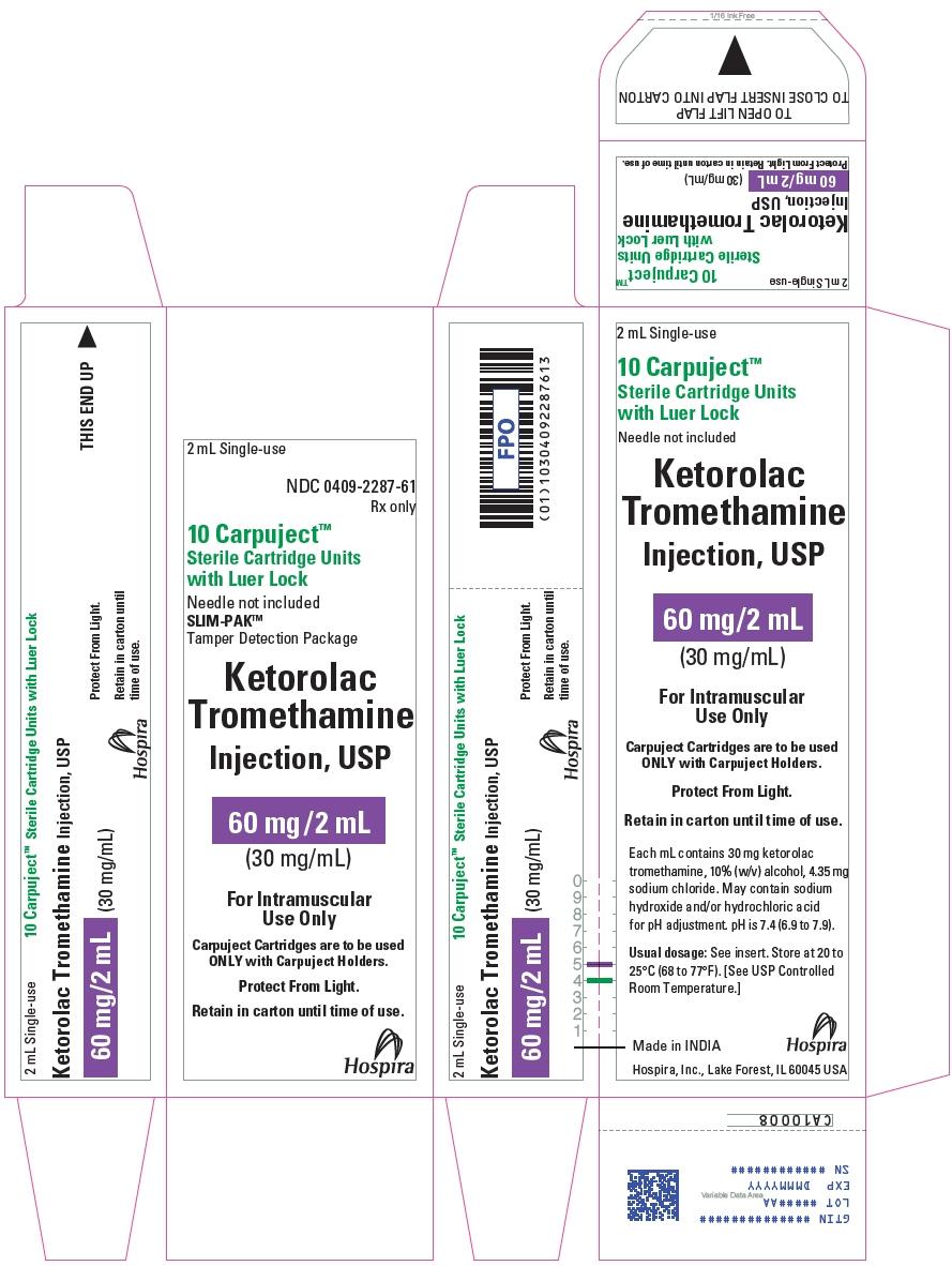 PRINCIPAL DISPLAY PANEL - 60 mg/2 mL Cartridge Carton