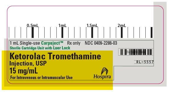 PRINCIPAL DISPLAY PANEL - 15 mg/mL Cartridge Label