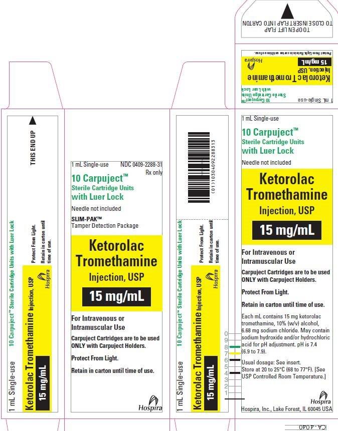 PRINCIPAL DISPLAY PANEL - 15 mg/mL Cartridge Carton