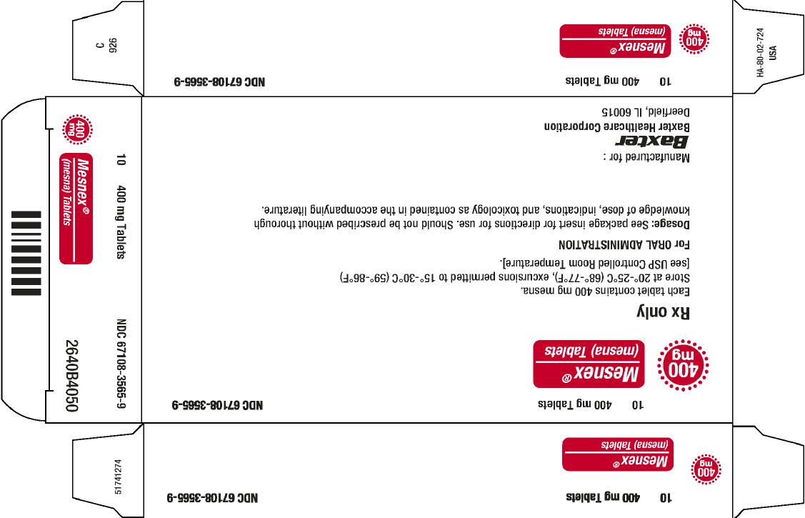 Mesnex Representative Carton Label 2 of 2 67108-3565-9