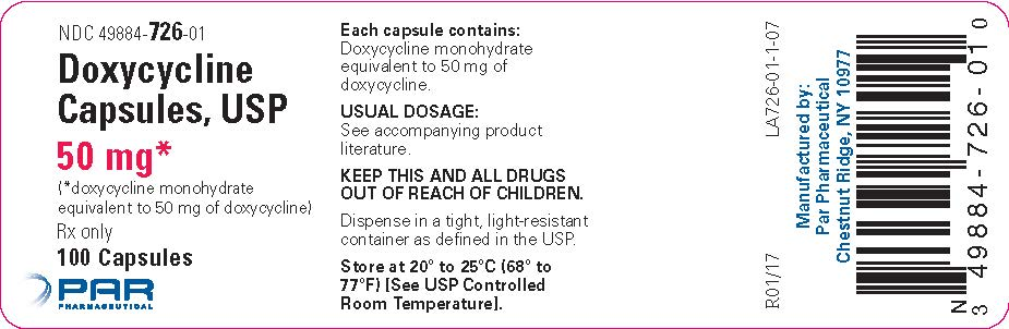 Doxycycline Capsules, USP 50 mg