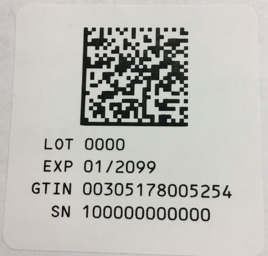 Serialization Label - 5 mL