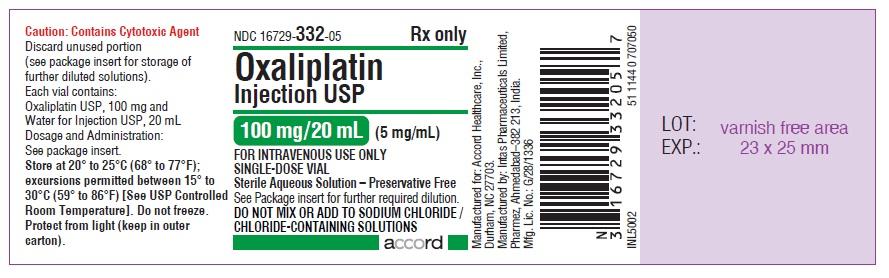 oxaliplatin Injection, USP 100 mg/20 mL (5 mg/mL)-single-dose vial-Label