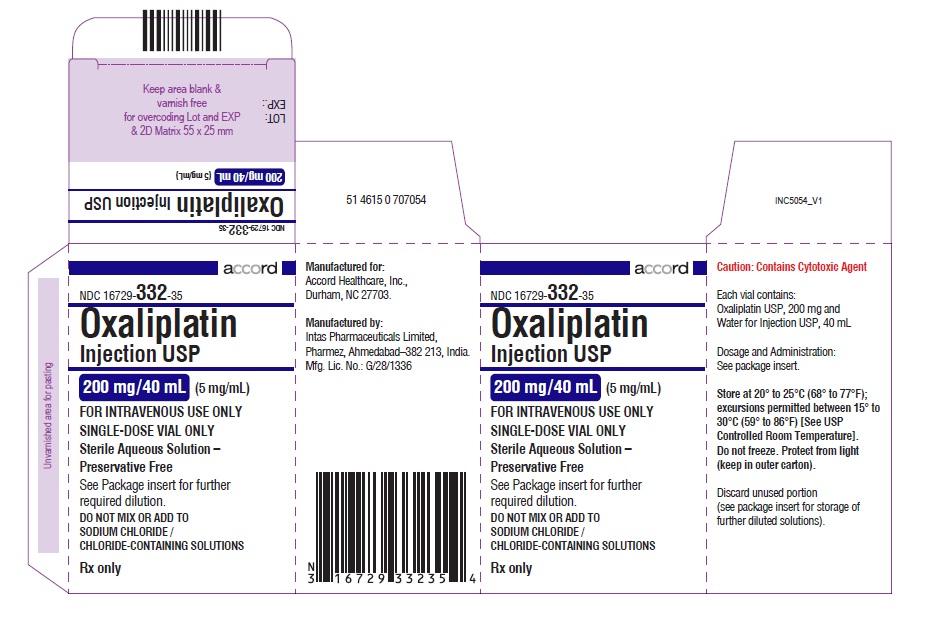 oxaliplatin Injection, USP 200 mg/40 mL (5 mg/mL)-single-dose vial-Carton
