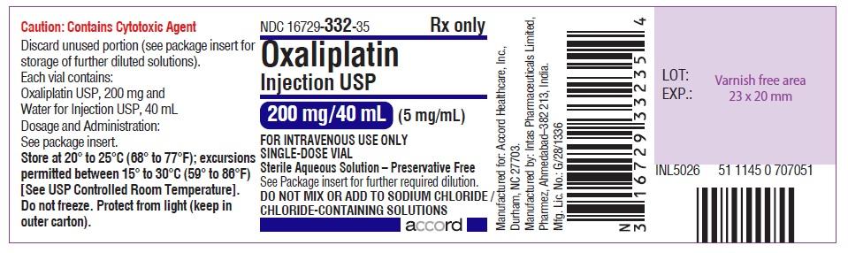 oxaliplatin Injection, USP 200 mg/40 mL (5 mg/mL)-single-dose vial-Label