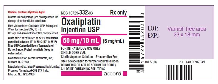 oxaliplatin Injection, USP 50 mg/10 mL (5 mg/mL)-single-dose vial-Label