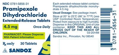Pramipexole Dihydrochloride 4.5 mg Label