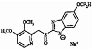 Pantoprazole Sodium Chemical Structure