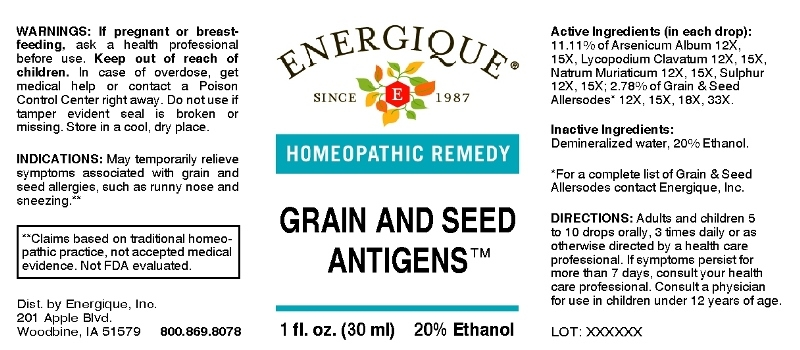Grain and Seed Antigens