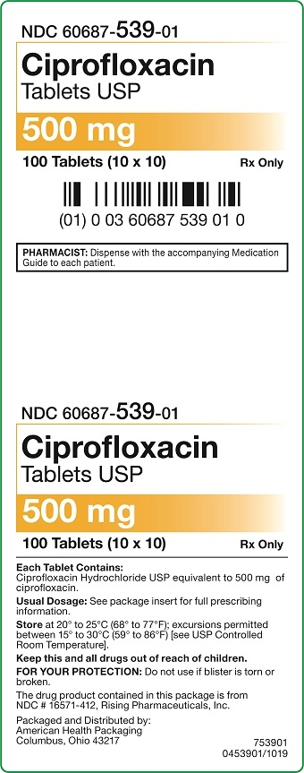 500 mg Ciprofloxacin Tablets Carton