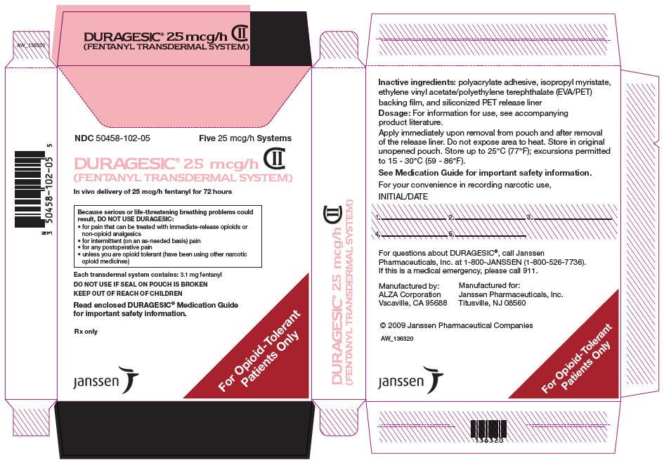 PRINCIPAL DISPLAY PANEL - 25 mcg/h Patch Pouch Box