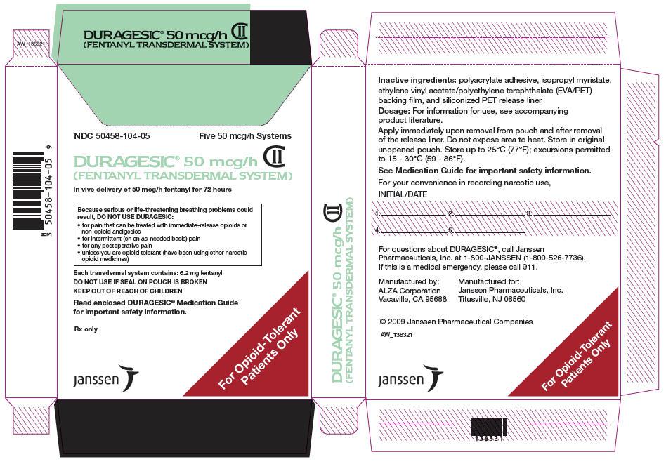PRINCIPAL DISPLAY PANEL - 50 mcg/h Patch Pouch Box