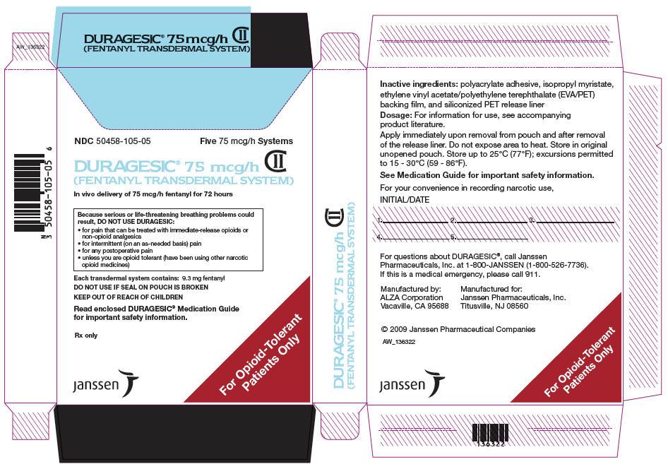 PRINCIPAL DISPLAY PANEL - 75 mcg/h Patch Pouch Box