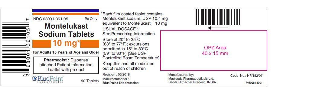 Montelukast Sodium 10 mg Tablets  90ct BluePoint  rev 06 2018.JPG