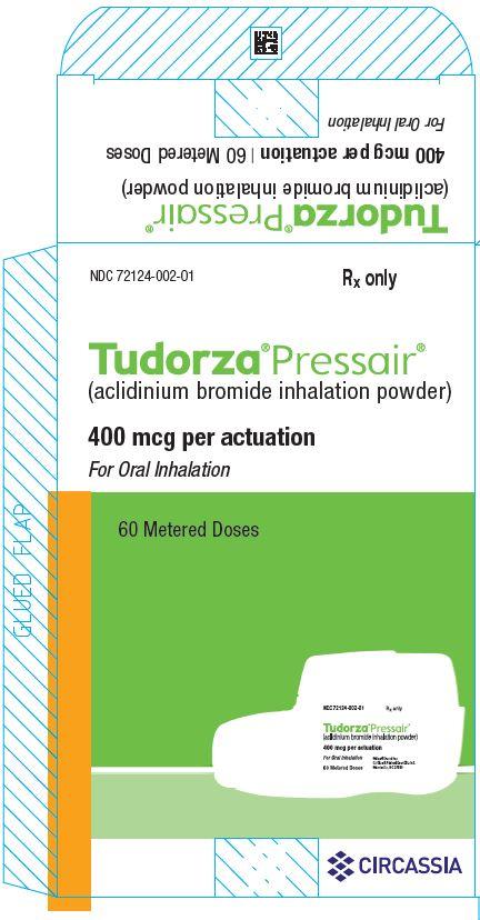 Tudorza Pressair 400 mcg per actuation carton