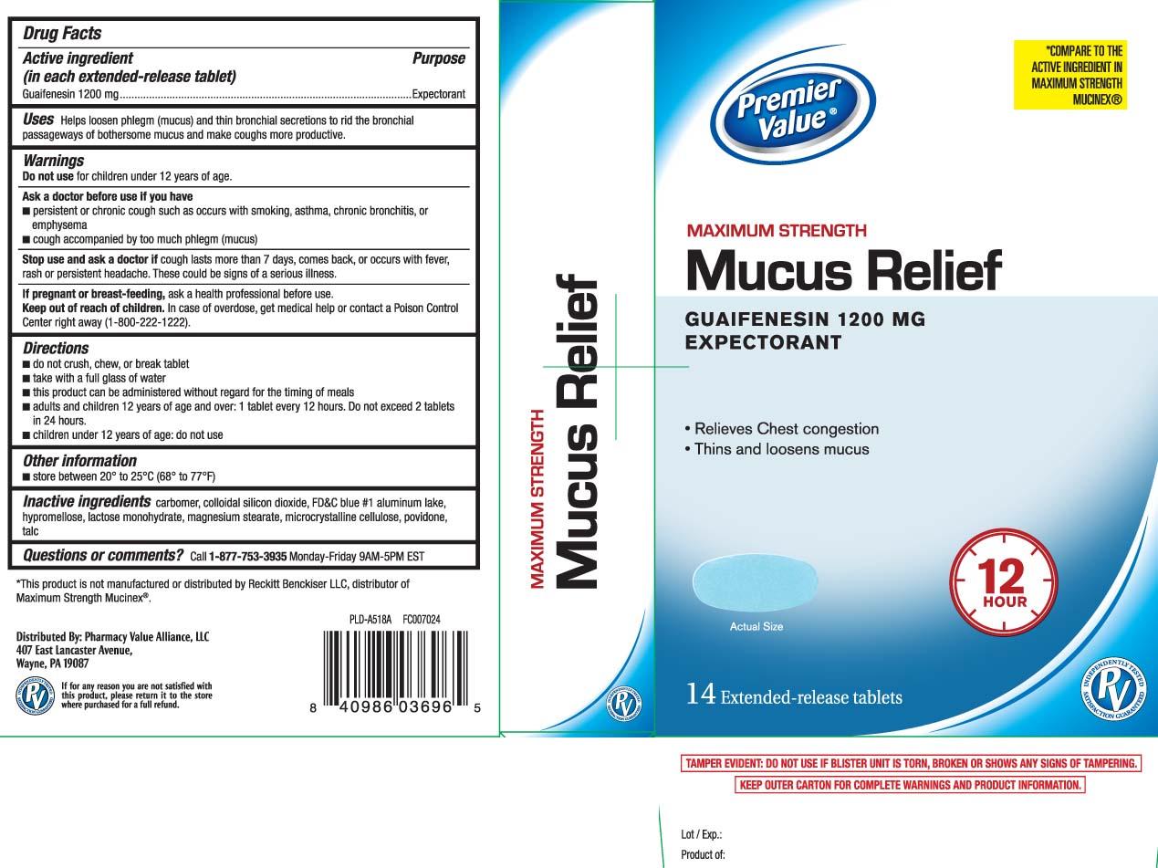 Guaifenesin 1200 mg