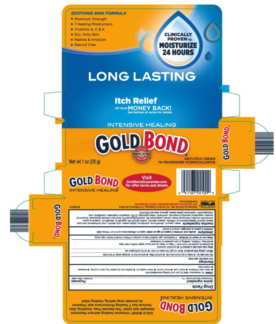 GOLD BOND®   INTENSIVE HEALING Net wt 1 oz (28 g)  ANTI-ITCH CREAM 1% PRAMOXINE HYDROCHLORIDE