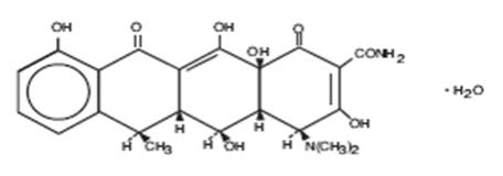 structural formula of doxycycline monohydrate