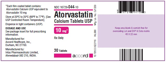 Atorvastatin Calcium Tablets – 10 mg 30 Bottle Label