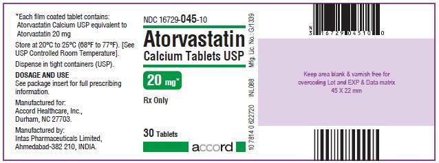 Atorvastatin Calcium Tablets – 20 mg 30 Bottle Carton