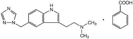 rizatriptan benzoate structural formula