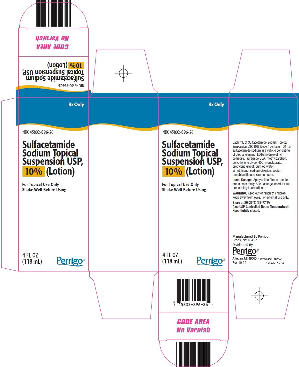 Sulfacetamide Sodium Topical Suspension Carton