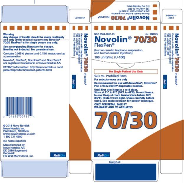 Novolin 70/30 3 mL FlexPen carton - ReliOn